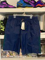Mens Adidas Woven Shorts Blue 3 Stripes XL DU9465 $45 RETAIL SEE PHOTOS