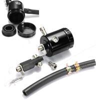 Universal Moto Serbatoio Olio Liquido Pompa Anteriore Freno Alluminio Tubo Nero