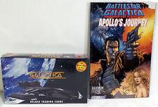 BATTLESTAR GALACTICA : DELUXE TRADING CARDS SEALED BOX & COMIC SET