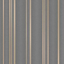 PULSE STRIPE WALLPAPER CHARCOAL / COPPER - FINE DECOR FD42351 GLITTER
