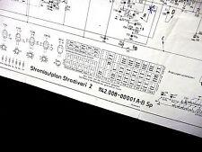 """Stromlaufplan DDR- Radio """" STRADIVARI 2 """" ( AM/FM-Super , um 1960 , TOP)"""