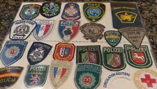Police Patch collection NY & around the World, 23 patches buy with/without frame