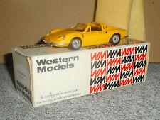 WESTERN MODELS  1:43 Ferrari Dino 246 GT  white métal brooklin