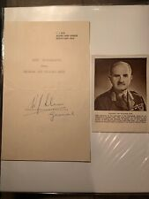 Original WW2 Autographed Letter Signed by General Sir William Slim, 1st Viscount