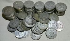 Lot of 10 Silver Franklin Half Dollars (Random Dates 1948-1963) - Free Shipping!