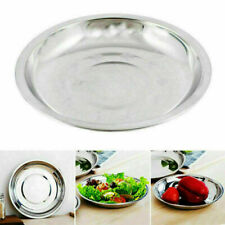 20/24/28CM Size Round Home Plate Stainless Dish Container Kitchen Tableware