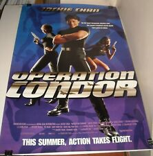 ROLLED 1997 OPERATION CONDOR MOVIE POSTER JACKIE CHAN CAROL CHENG EVA COBO