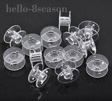 50 Clear Plastic HOT SELL Spools for Thread String / Sewing Machine Bobbin Case