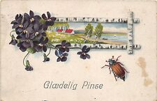 BG4028 Glaedelig pinse  pfingsten pentecost beetle  netherlands greetings