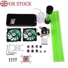 PC Liquid Cooling 240mm Radiator Cooler Kit Pump Reservoir CPU GPU HeatSink UK