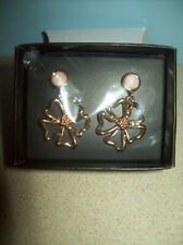 Pierced Earrings Nib Avon Floral Drop