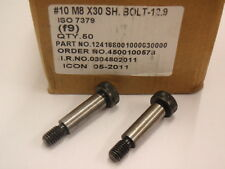 5 off  M8 x 30 x 10mm GROUND DIA HIGH TENSILE SHOULDER BOLTS #122