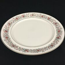 "VTG Round Chop Plate 12"" by Mikasa Grosvenor Rust & Gray Floral  Japan L6216"
