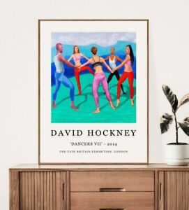 David Hockney Poster, David Hockney Print, Dancers, Floral Wall Art Decor