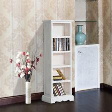 DVD Standregal CD Ständer Regal für 115 CDs Holzregal 5 Fächer Weiß 30x17x90cm