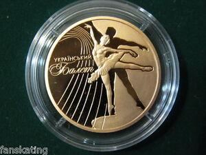 Ukraine 50 UAH 2010: Ukrainian Ballet 1/2 Oz Gold coin PROOF
