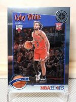 2020 NBA Hoops Premium Stock COBY WHITE Tribute Rookie RC #295 Chicago Bulls🔥🔥