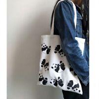 Fashion Lovely Women Gift Canvas Shopping Panda Animal Handbag Shoulder Bags