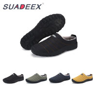 Mens Winter Snow Warm Soft Slippers Indoor Plush Home House Fur Outdoor Boots US