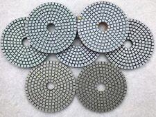 "Diamond Polishing Pads 4"" Set for Granite Concrete Stone Polishing - PACK OF 35"