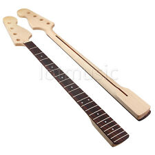 Maple 21 Fret Rosewood Bass Neck For 4 String Bass Guitar Parts replacment