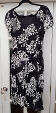 BNWT Roman Originals Black Cream Stretch Floral Lace Occasion Dress UK 12