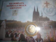 Busta fil.numismatica 2 euro 2005 VATICANO Vatican Vatikan-XX Giornata Mondiale