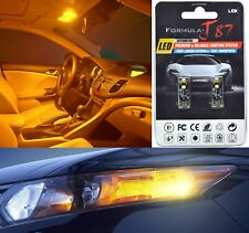 Canbus Error LED Light 194 Orange Amber Two Bulbs Front Side Marker Upgrade Fit