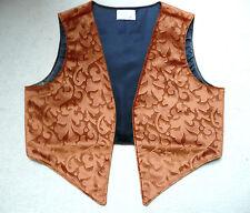 HANDMADE UNISEX VELVET EDGE-T0-EDGE WESKIT  (waistcoat) Orange