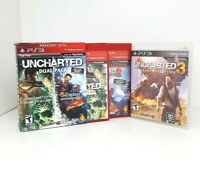 Uncharted 1, 2, & 3 Bundle - PS3 - All TESTED & WORKING