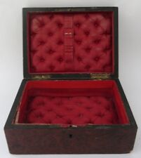 ANCIENNE BOITE A BIJOUX COUTURE SOIE CAPITONNEEE antique sewing jewellery box