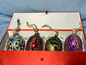NEW JOAN RIVERS Classic Collection set 4 Russian Egg Ornaments faberge 2008