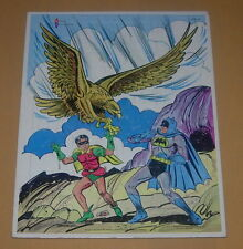 WATKINS  BATMAN AND ROBIN  FRAME TRAY PUZZLE  1966  GIANT EAGLE  COMIC STYLE