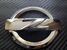 2X 370Z CHROME SILVER FRONT + REAR Z LOGO EMBLEM BADGE 370 Z FAIRLADY BODYKIT