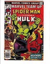 MARVEL TEAM-UP #53 (VG+) Spider-Man! Hulk! 1st John Byrne Art on X-MEN! 1977