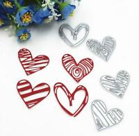 4x Heart Cutting Dies Stencil DIY Scrapbook Embossing Album Paper Card Craft
