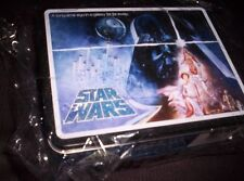 STAR WARS-Collector's Tin Lunch Box-Embossed-New In Plastic-Storage-LICENSED NEW