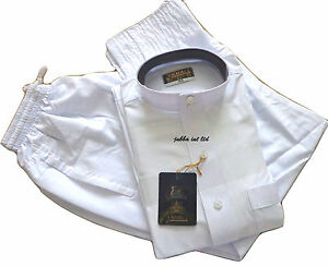 Boys/kids=Jubba- jubbah- thobe with collar- Pure White - size 30- 50 - ONE SET