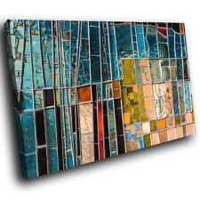 Teal Blue Red Abstract Canvas Wall Art Large Picture Prints