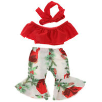 18inch Fashion Doll Red Tube Tops & Flares Pants For AG American Doll Dolls