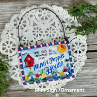 DecoWords Mini Sign Mimi Pappy Everyday Decor Wood Grandparent ORNAMENT Gift USA