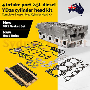 YD25 COMPLETE Cylinder Head Kit for Nissan Navara D40 D22 Pathfinder 4 port OZ