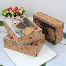 12pcs Christmas Candy Cookie Boxes Gift Boxes Cupcake Muffin Cake Box Bakery UK