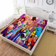 Toy Story Deep Pocket Fitted Sheet Set 3PCS Pillowcases Mattress Cover Decor New