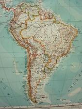 1907 DATED MAP ~ SOUTH AMERICA BRAZIL ARGENTINA CHILE PERU VENEZUELA