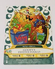 Disney Sorcerers Of The Magic Kingdom Card Goofy - Mickey's Christmas Party 2016