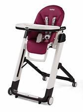 Peg Perego Siesta Multifunctional Ultra-Compact Kids Highchair Recliner Berry