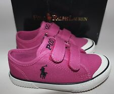 NIB RALPH LAUREN Size 9 Toddler Girl's Preppy Pink Pony CHAZ EZ Slip On Shoe