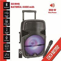 "Altavoz A320 Amplificado 12"" 350W | Bateria | Micrófono | 50W RMS| 4400 MAH"