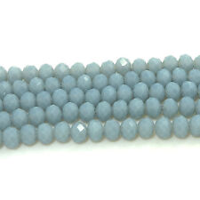 Wholesale 100pcs Rondelle Faceted Crystal Glass Loose Spacer Beads DIY  4mm